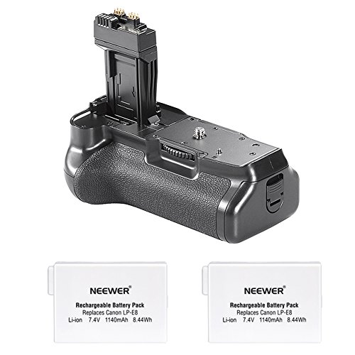 t 2x LP-E8Akku für Canon EOS 550D/600D/650D/700D Rebel T2i/T3i/T4i/T5i Kamera ()