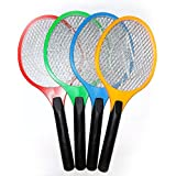 Jaz Deals Plastc Rechargeable Electric Racket Bug Insect Zapper