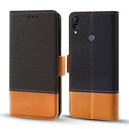 Forhouse AsusZenfoneMax(M2)ZB633KL PU Hülle Leder, PU Ledertasche etui Schutzhülle Tasche Slim Flip Case Cover mit Magnetverschluss für AsusZenfoneMax(M2)ZB633KL PU (Schwarz)