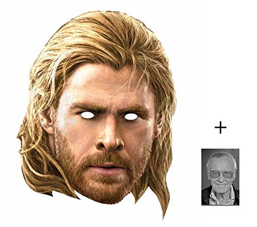 Thor (Chris Hemsworth) Marvel Avengers Age of Ultron Single Karte Partei Gesichtsmasken (Maske) Enthält 6X4 (15X10Cm) ()