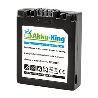 Akku-King Akku ersetzt Panasonic CGA-S002, DMW-BM7 - Li-Ion 700mAh für Lumix DMC-FZ4EG-S, FZ4PP, FZ4S, FZ5, FZ5EB, FZ5EG, FZ15, CGA-S002E/1B, CGR-S002