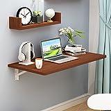 ZHXUANXUAN Wandhalterung Klapptisch Esstisch Wand Tisch Wand Tisch Wand Tisch Computer Schreibtisch Hinweis Schreibtisch Wand Tisch,Brown-60 * 40 * 2.5cm