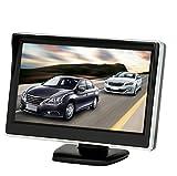 BW 12,7cm HD 800* 480écran voiture Mini Rétroviseur de voiture parking vue arrière moniteur couleur TFT LCD Moniteur écran pour caméra de recul DVD VCD
