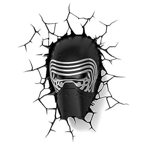 3D FX Deco LED Night Light Star Wars Lead Villain Gesicht Kopf kylo ren Mask 3D Deco Wandlampe Nachtleuchte Nachtlicht Achtlicht Lampe