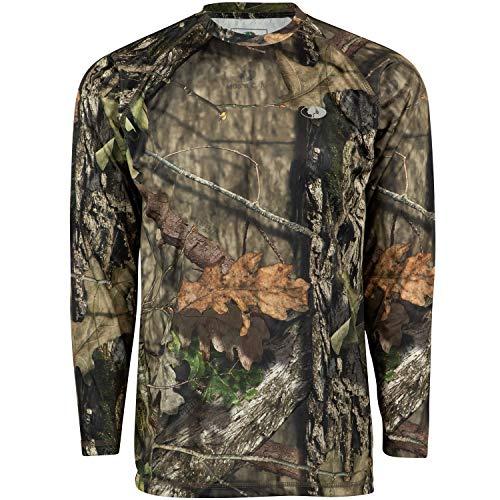 Mossy Oak Herren Mo Camo Performance Long Sleeve Tech Hunting Shirt Langärmelig, Break-Up Country, X-Large -