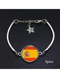 1fb850e93f98 ZXLIFE World Cup Fans Pulseras Francia España Perú Suiza Inglaterra  Colombia Uruguay Fútbol Equipo A Set