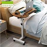 WETERS Sofa Beistelltisch Tisch Couchtisch Bett Laptop Klapp Kleiner Tisch tragbaren faul Tisch(beidseitig Eiche)
