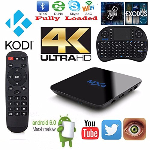 Tronic MXQ TV box Android 6.0 Quad Core fully Loaded 4K*2K,Amlogic S905X {Free Mini Keyboard} Stream Live Tv Movies Sports
