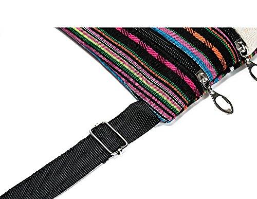Tpocean , Borsa da spiaggia  Donna Color stripe1