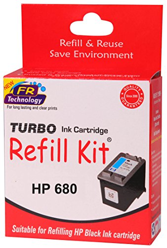 Turbo refill kit for HP 680 black ink cartridge  available at amazon for Rs.252