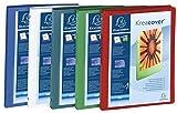 Exacompta Kreacover Lot de 5 Classeurs personnalisable en polypropylène pour A4 4 anneaux 15mm Assortis