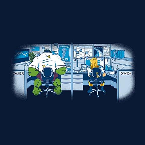 Iron Man And Thor Work Friends Ragnorok Men's Vest Navy Blue