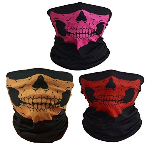 (ToBe-U Nahtlose Multifunktions-Half Face Skull Tube Maske für Halloween)