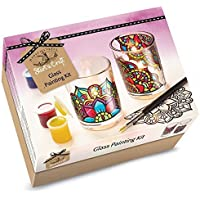 House Of Crafts Iniciar Un Kit De Pintura De Vidrio Artesanal