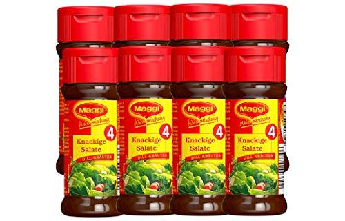 Maggi Würzmischung 4 Knackige Salate, 8er Pack (8 x 60 g) (Gurken-dill-dip)