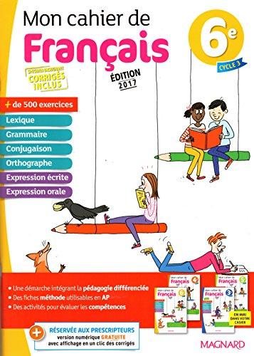 Mon cahier de français 6e