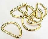 Halbringe/D-Ringe gold 30 mm 6er Set