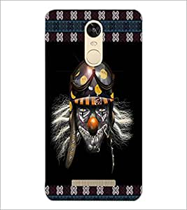 PrintDhaba Skull with Helmet D-3573 Back Case Cover for XIAOMI REDMI NOTE 3 (Multi-Coloured)