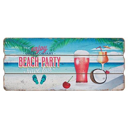 Beach Party Holzschild Sommer Strand Party Deko Wandbild Schild MDF 34x15 cm