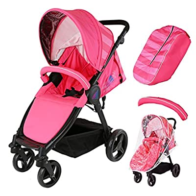 Sail Stroller - Pink Raspberry Includes Bumper Bar Rain Cover Bootcover  Dorel UK Limited