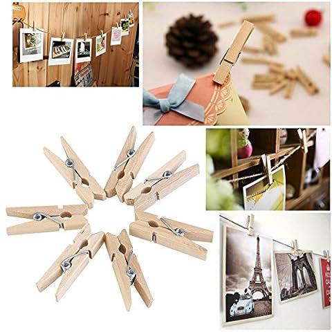 tankerstreet 3,5cm Mini Holz Wäscheklammern DIY Note Memo Clips Kleidung Foto Papier Wäscheklammern Craft Home Supplies favors-100pcs