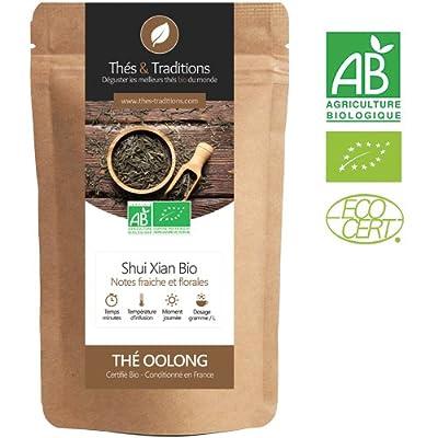Oolong bio de qualité supérieure : Shui Xian| Sachet 100g vrac | ? Certifié Agriculture biologique ?