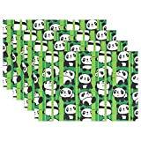 GOODSTHING napperon, Green Bamboo Placemat Table Mat, Funny Panda 12' x 18' Polyester...