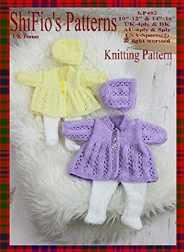 Test Knitting Pattern Kp402 Dolls Jacket Hat Leggings 10 12