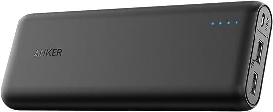 Anker PowerCore 20100mAh Externer Akku, kompakt Powerbank, hohe Kapazität 2-Port 4,8 A Output Ladegerät mit PowerIQ Technologie für iPhone, iPad, Samsung Galaxy und viele mehr (in Schwarz/Matt)