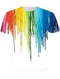 BFUSTYLE Unisexe 3D Casual Motif Imprimé à Manches Courtes T-Shirts Top Tees