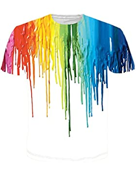 Bfustyle Unisex 3d Casual Patrón Impreso Manga Corta Camisetas Top Tees Camiseta Impresa