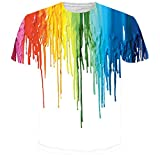 Bfustyle Unisex Melting Paint Printed Graphic T Shirt Tops