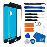 MMOBIEL Front Glas Reparatur Set für iPhone 7 Series (Schwarz) Display Touchscreen mit Werkzeug-Set