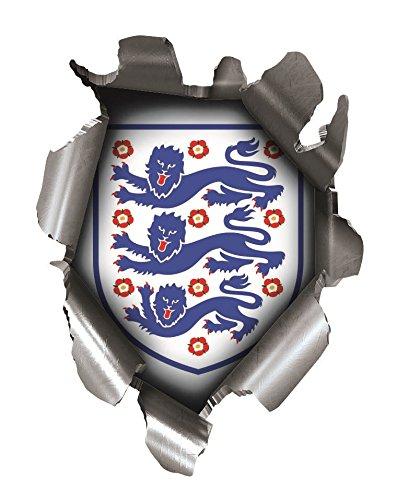 Speed Demons Pride Burst Rip Torn Reißfestigkeit Aufkleber Graphic, selbstklebend, für jede Oberfläche inkl. Laptops und Autos–Drei 3Löwen Flagge England Fußball (Löwen Auto Aufkleber)