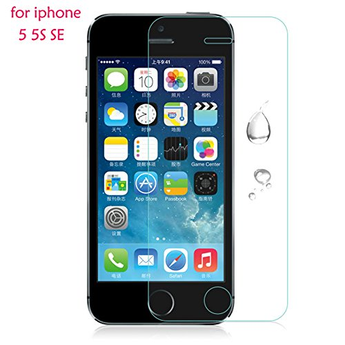 Shopway 2.5D Smooth Curved Edge 0.3 MM Front Tempered Glass Screen Protector Guard For Apple Iphone 5/5C/5S  available at amazon for Rs.129