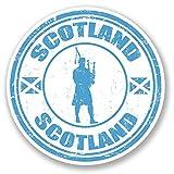 2x Scotland Autocollant pour voiture/vélo/iPad/ordinateur portable/Cornemuse Écossais Kilt Drapeau Fun # 4275