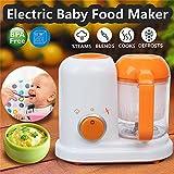 Profesional de alimentos para bebés Licuadora Procesador Steam Food Safe 2 en 1 vaporizador eléctrico Toddler Food Maker 300W BPA gratis