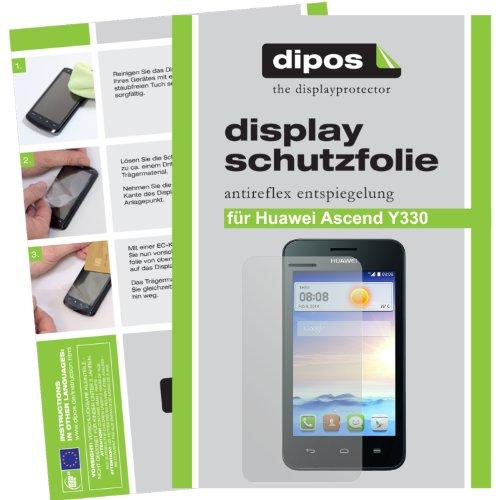 dipos I 2X Schutzfolie matt passend für Huawei Ascend Y330 Folie Bildschirmschutzfolie