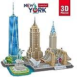 CubicFun 3D Puzzle New York CityLine Gebäude-Set-Architektur-Modellbausatz zum Bauen für Spaß, 123 Teile(Schwierigkeit: 4/8)