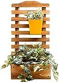 Supporto per fiori Fiore Rack Legno piedi Desktop / Wall Mounted Display Fiore Shelf Giardino Impianto di attaccatura del supporto delle piante Vasi Ripiani interni o fiore esterno for Living Room Max