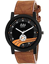Relish RE-S8120BT Black Slim Analog Watches For Men's And Boy's