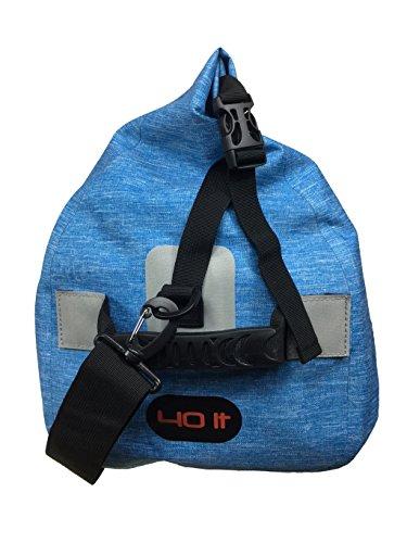 Toio mens impermeabile Sloop bag 40l universale grigio ferro 55x 28x 55cm ultraleggero 100% poliestere 600D TPU, Uomo, Navy, Universale Light blue