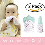 2 Pack Baby Teething Mitten by GbaoY, Babies Self-Soothing Pain Relief and Teething Toy, BPA Free Safe Food Grade Teething Mitt
