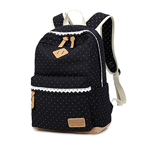 s-d-casual-canvas-backpack-school-lightweight-18-litres-ethnic-lace-travel-laptop-rucksack-for-teen-
