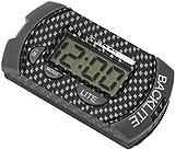 CARBON LOOK MOTORBIKE/MOTORCYCLE DIGITAL LCD YOKE MOUNT CLOCK