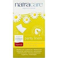 Orgánicos Protege-Slips De Algodón Normales Natracare Individuales Con Envoltorio 18 Por Paquete (Paquete