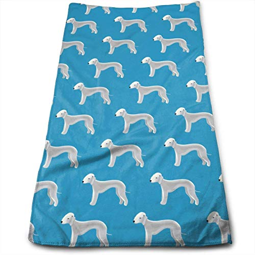 WTZYXS Cute Bedlington Terrier Dog Pattern Microfiber Multi-Purpose Towel Bath Towels Hand Towels Washcloth Towels Bathroom Towels - Great Shower Towels, Hotel Towels & Gym Towels 12