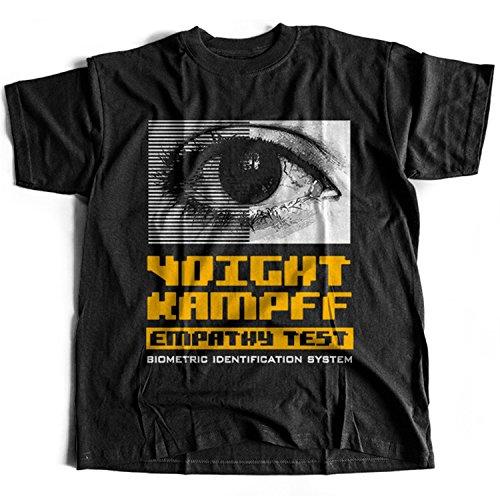 9182 Voight-Kampff Empathy Test Herren T-Shirt Nexus-6 Tyrell Shimata Blade Unicorn Corp Replicant Runner Origami(XX-Large,Black)
