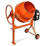 Betonmischer Elektrische aus Stahl mit Orange 140L 650W