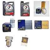 Inspektionskit 6 Liter TOTAL QUARTZ INEO LONGLIFE 5W30 Motoröl und 4 Filter